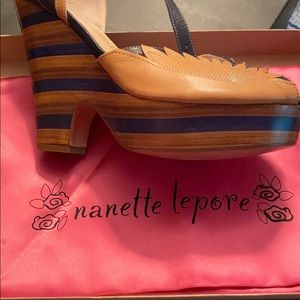 Nanette lepore Italian leather heels